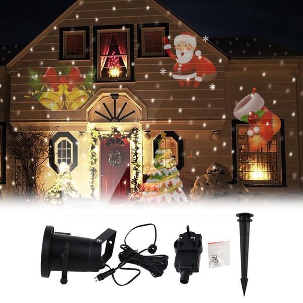 Lampade per proiettore laser impermeabili Lampada da palcoscenico a LED Lampada da giardino per esterni Paesaggio natalizio Lampada per esterni / carta