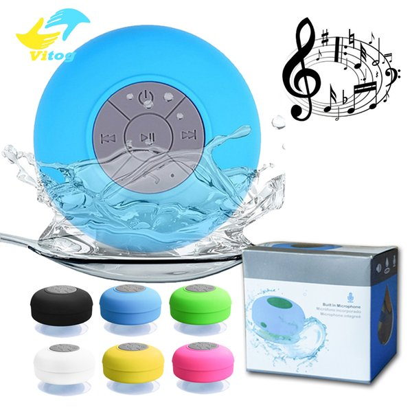 best selling Mini Portable Subwoofer Shower Waterproof Speaker Wireless Bluetooth Car Handsfree Receive Call Music Suction Mic For iPhone Samsung