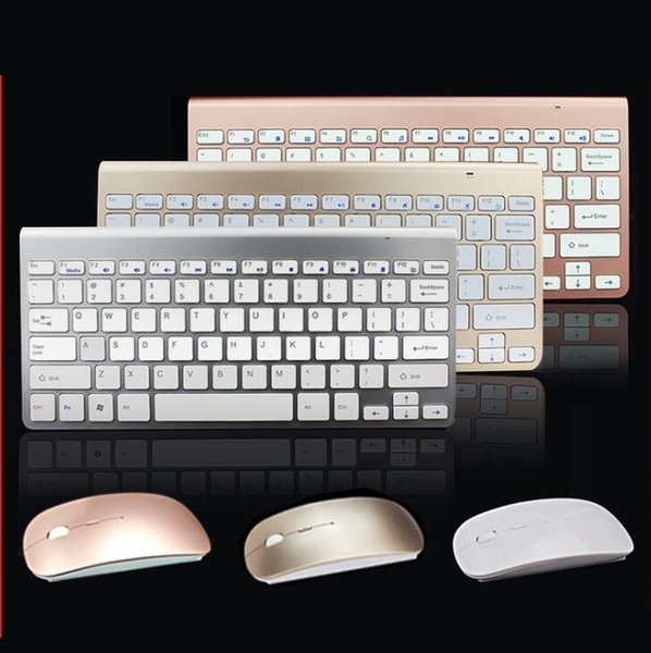 7c6520cad1b Slim wireless 2.4G keyboard and mouse set, mini chocolate keyboard, can be  connected