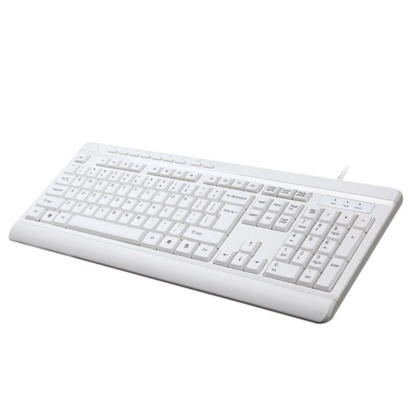 Simples clássico Dropshipping 2.4G Multimídia À Prova D 'Água Sem Fio Teclado Mudo 104 Teclas Para Notebook exclusivo elegante PC 18 # 827