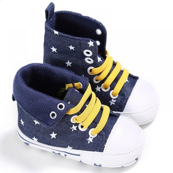 Autumn Comfortable Canvas Babies Boy Girl Footwear Shoes ROMIRUS Spring Baby Soft Lace-up for Cute Shoes High-tops School Crib