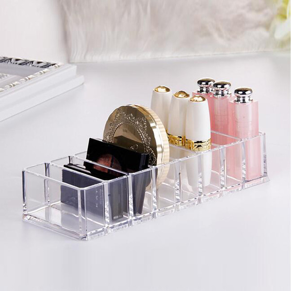 5pcs/lot Women Makeup Tools Storage Case Clear Acrylic Powder Storage Box Desktop Cosmetic Organizer Lipstick Nail Polish Rings Holder