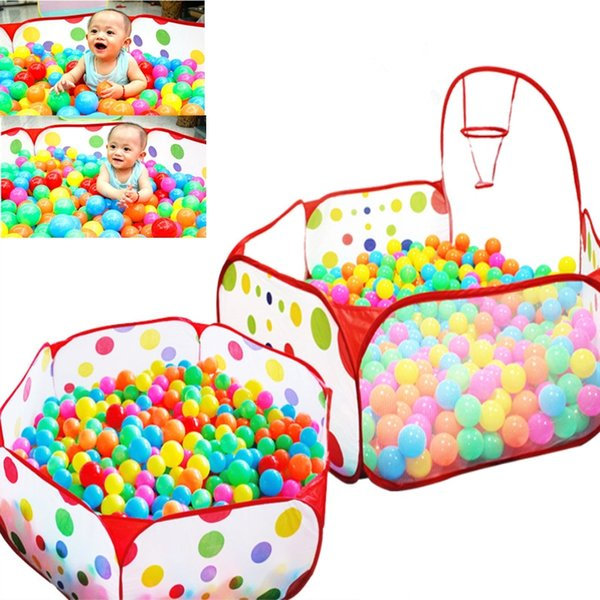 best selling Baby Playpen Safety Tent for Children Indoor Ball Pool Play Tent Kids Polka Dot Hexagon Playpen Portable Foldable Playpens