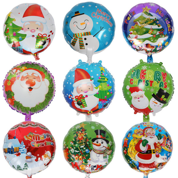 18inch Christmas Aluminum Foil Balloon Santa Snowman Xmas Home Decoration Balloons Birthday Party Supplies Ornament Kids Toy