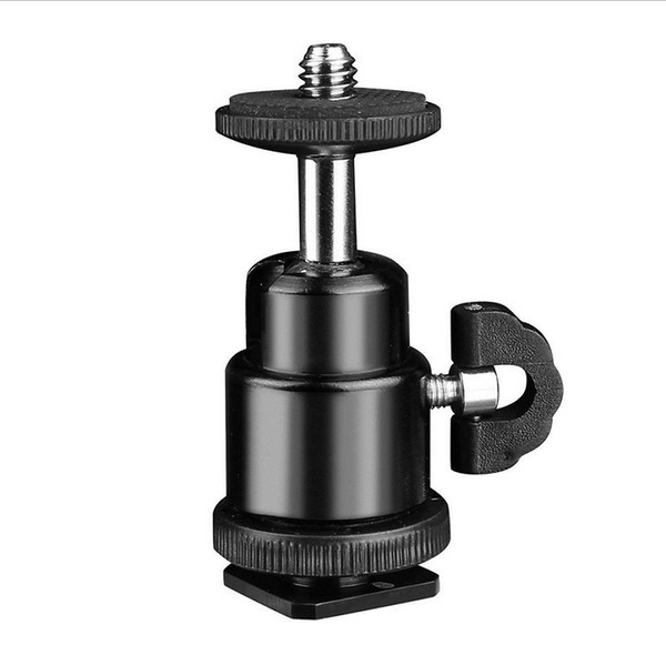 Mini Metal Tripod Ball Head Ballhead With Hot Shoe Adapter to 1/4 Screw Mount For Selfie Stick DSLR Camera Flash Bracket Accessories
