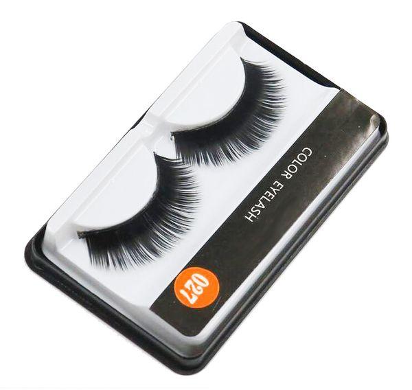 Brand False Eyelashes Handmade Natural Long Curl Thick Soft Fake Eye Lash Extensions Flair Black Color Eyelashes Makeup #027 hot sale