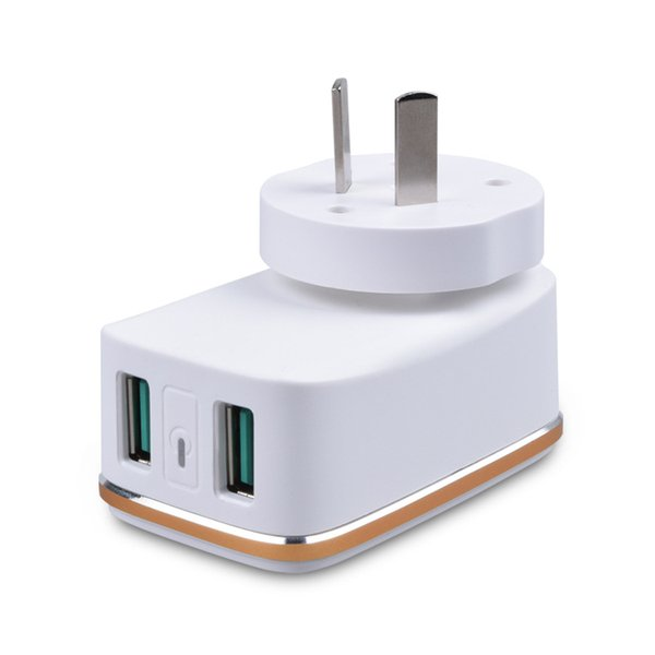 Xiaobai mobile phone charger multi-port 2USB can change the foot charging head British standard power adapter manufacturers low-cost direct