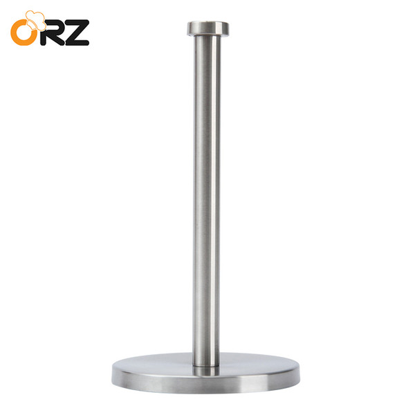 ORZ Kitchen Roll Paper Holder Bathroom Toilet Paper Stand Stainless Steel Tissue Napkins Rack Home Kitchen Tool Table Decoration