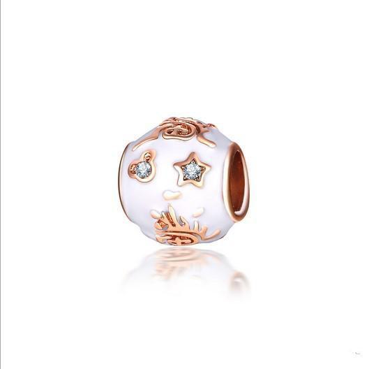 Fit Pandora Charm Bracelet European Silver Charms Beads Star Mic key Enemal Dangle Beads DIY Snake Chain For Women Bangle Necklace Jewelry