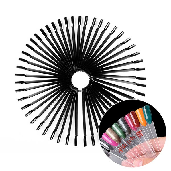 WiRinef Fan Shaped Color Palette Card Display Practice Sticks Nail Style Swatches Nail Art Display Shelf Polish Card 50pcs/set