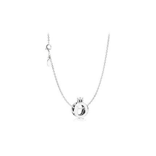 best selling 1pcs Drop Shipping Alloy Crown Pendant Necklace Fits pandora 45cm+8cm Chain Women Female Birthday Chirstmas Gift N002
