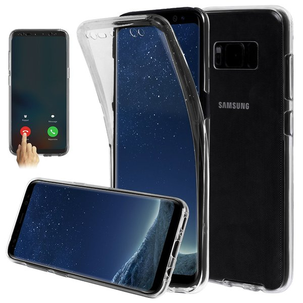 360 Degree Full Body TPU Phone Case Front Back Transparent Soft Cover for iphone X XS MAX XR 8 6 6S 7 plus Samsung Galaxy S9 S8 plus note 9