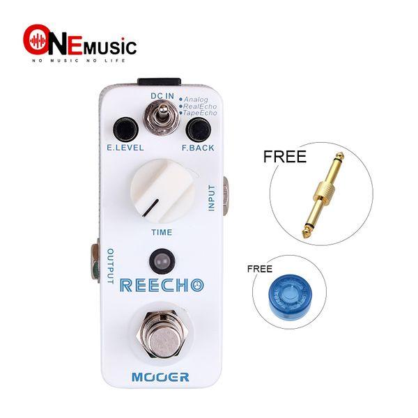 Mooer Reecho Digital Delay Pedal 3 Delay Modes: Analog/Real Echo/Tape Echo Full metal shell True bypass MU0342