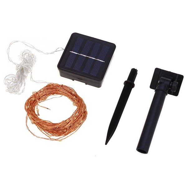 12m 120 LED Solar Lamps Copper Wire Fairy String Patio Lights Waterproof Garden Christmas Wedding Party Decoration Outdoor
