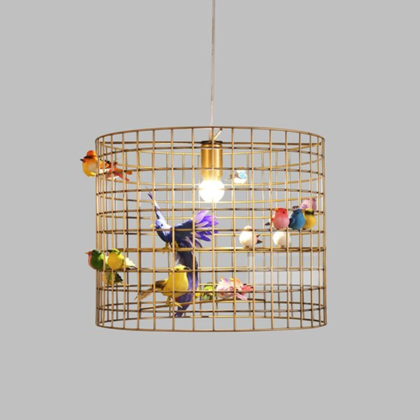 Retro dinging room Iron Bird Lantern led Pendant lamps Nordic Postmodern Individual Pendant Lights American Restaurant Bedroom Hanging Lamp