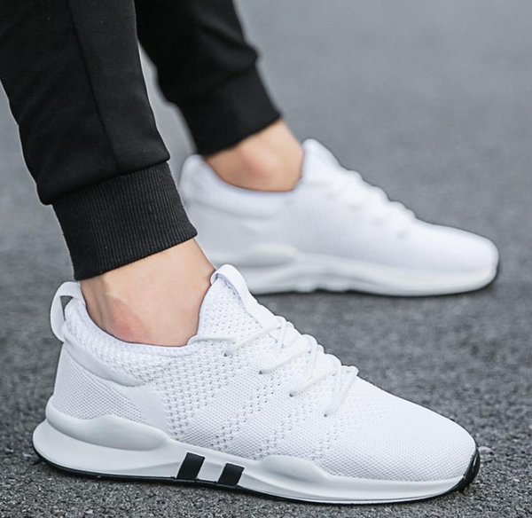 top popular HOT SALE Sports shoes men's breathable running shoes summer mesh net shoes casual non-slip Korean version of the trend of deodorant A37 2019