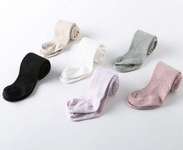 Bebé pantimedias primavera bebés ola leggings de rayas de alta calidad niños algodón apretado niñas princesa vestido piernas niños pantalones de algodón R2324