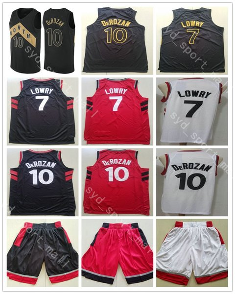 buy online 54ebf b7a6d 2018 2018 2019 New Season 10 Demar Derozan Jersey Basketball City Edition  Black Gold Red White 7 Kyle Lowry Jerseys Stitched Breathable Shirt From ...