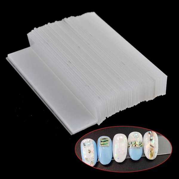 40pcs/Pack New False Nails Tips Display Show Stand Holder Rectangle Protective Film Nail Display for Gel Glitter Polish TR151