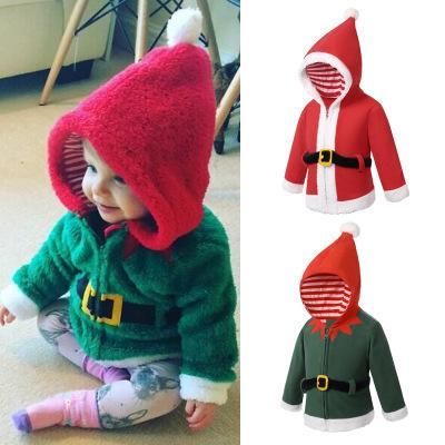 Kids Baby Boys Girls Winter Coat Warm Soft Children Clothing Cotton Hooded Santa Claus Outwear Kids Clothes Outfits Christmas Custome