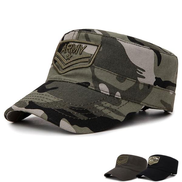 Tactical Camo Cap Men ARMY SWAT Combat Snapback Hat Camouflage Outdoor Gorras Baseball Caps Hunter Cotton Flat Cap Adjustable
