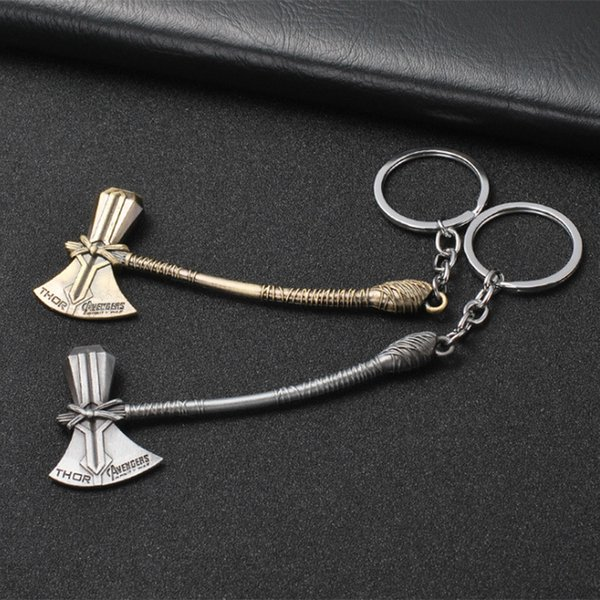 The Avengers 3 Infinite War Peripheral Pendant Super Hero Thor Groot Thor's Hammer Stormwind Axe Keychain
