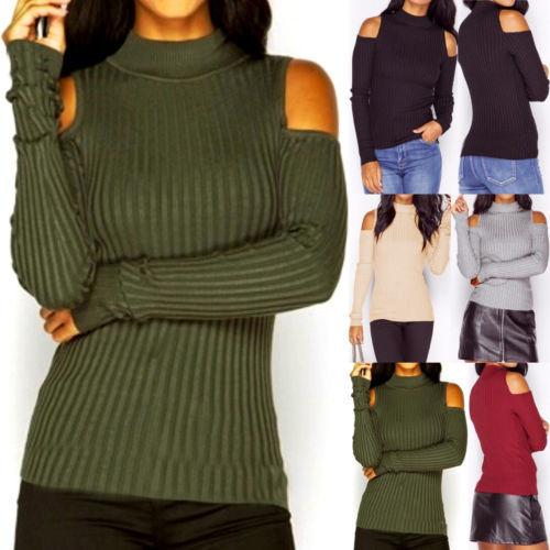 Womens Long Sleeve Casual Pullover Sweater Shirt Ladies Loose Jumper Tops