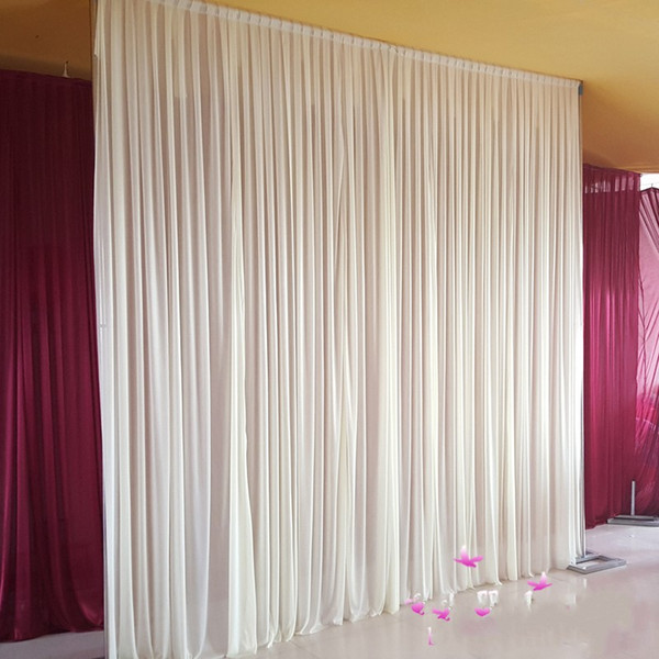 2019 3m6m Backdrop Curtains With Swag Wedding Drapes Luxury Wedding Stage Backdrop Props Wedding Decorations From Present2008 13568 Dhgatecom