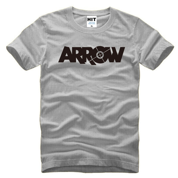 Green Arrow Letter Printed Mens Men T Shirt Tshirt Fashion 2017 New