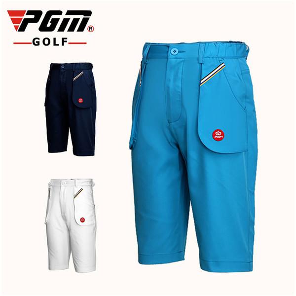 Pgm Çocuk Boys Rahat Şort Açık Çocuklar Nefes Golf Kısa Bebek Rahat Spor Pantolon Yaz Golf Giyim D0359