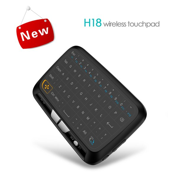 H18 Mini Wireless Keyboard 2.4Ghz Full Screen Touchpad Fly Air Mouse Combos Remote Control for PC Android TV Box S905W S912