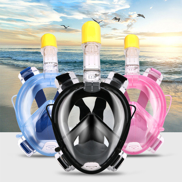 2018 Brand Scuba Diving Anti Fog Full Face Diving Mask Snorkeling Set Underwater Swimming Training Scuba mergulho waterproof