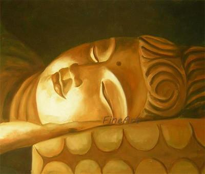 Dipinto a mano olio parete art decorrative buddha pittura a olio su tela pittura murale soggiorno decorazione home decor regalo unico