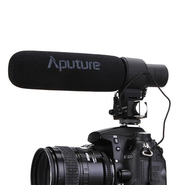 Aputure V-Mic D2 Sensitivity Adjustable Directional Condenser Shotgun Video Microphone for Nikon Canon Sony Pentax DSLR Camera