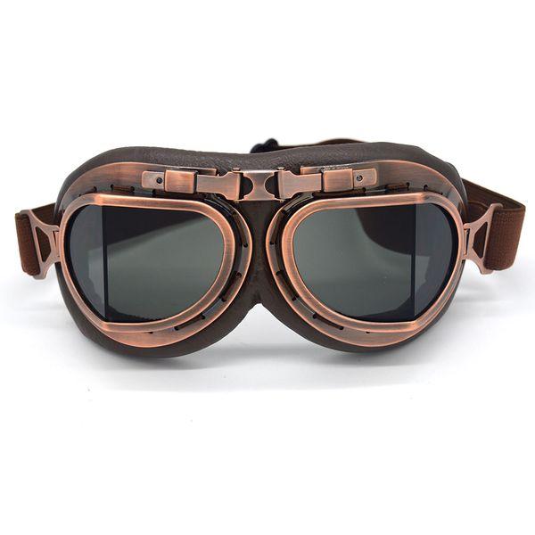 Evomosa WWII RAF Vintage Motorcycle Goggles Harley Motocross Aviator Pilot Cruiser Glasses ATV Dirt Bike Motor Helmet