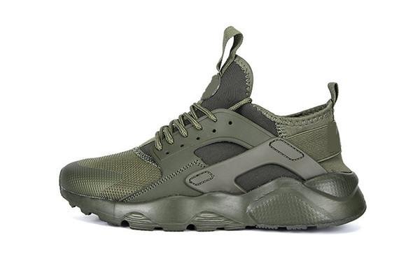 2018 nike Air Huarache 4 I IV Ultra Chaussures de course pour femmes Hommes, Hommes Armée Vert Rouge Blanc Noir Huaraches Sports Sneakers Entraîneurs Huraches