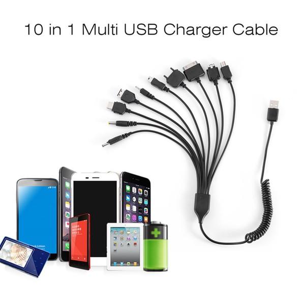 10 in 1 Evrensel Taşınabilir Hafif Çok Fonksiyonları Standart USB Şarj Kablosu Çoğu Marka ile Uyumlu Telefonları