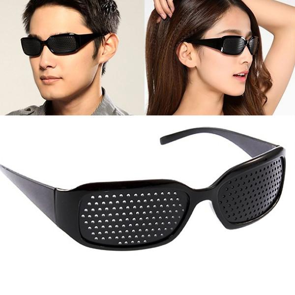 Black Eyesight Pinhole Lunettes Anti-fatigue Lunettes Vision Améliorateur Soins Relax Sténopique Autre Vision Soins Anti-fatigue FFA244 350PCS