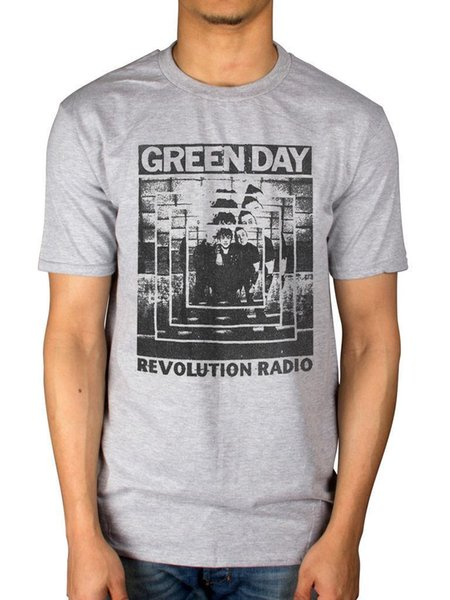 Official Green Day Power Shot T-Shirt American Idiot Revolution Radio Mask Band