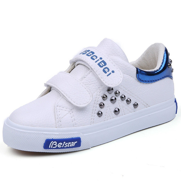 2018 New Children Shoes Boys Girls Board Shoes Fashion Rivets Casual Shoes kids sneakers girl sneakers