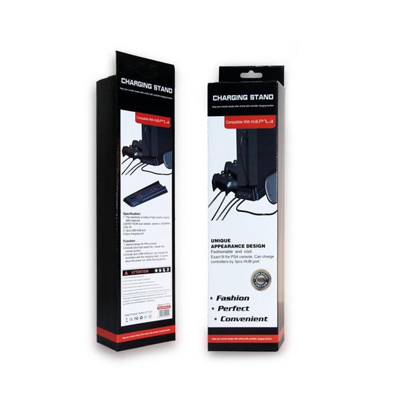la migliore velocità verticale Stand 3 HUB Porta USB Raffreddamento 2 Ventole di raffreddamento Caricabatterie Supporto per supporto di ricarica Supporto per Playstation 4 PS4