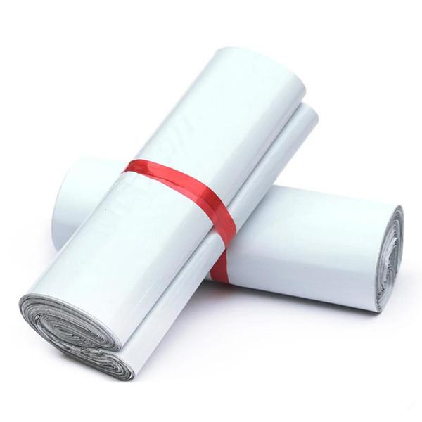 Хорошее качество 28x42cm Белый Мейлер сумки Самоуплотнение Mailbag пластиковый конверт