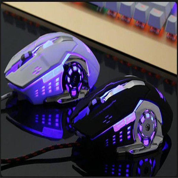 Mouse Raton LED Light USB Wired Gaming Mouse Professional Mice Gamer 4000DPI Optical For PC Laptop computer 18Aug8
