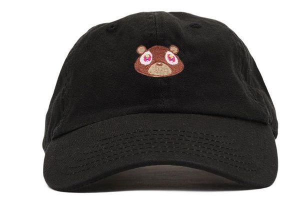 Kanye West Urso New Arrival Golf Curvo Visor chapéus Vintage Snapback cap Esporte dos homens último chapéu de alta qualidade Bonés de Beisebol Ajustável