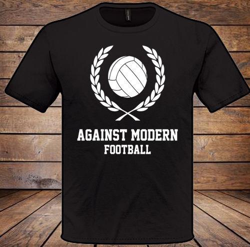 Contra la camiseta de fútbol moderna para hombre para mujer regalo de navidad regalo de navidad regalo divertido envío unisex casual camiseta regalo
