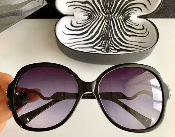Women RC1072 Snake Sunglasses Gold Black Grey Gradient Designer Sunglass Eyewear Occhiali da sole New with box