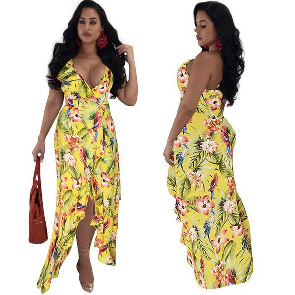 Boho estilo sexy summer dress off ombro mulher elegante dress strap print longo maxi dress