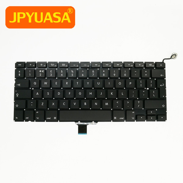 20pcs / lot neue britische Tastatur A1278 für Macbook Pro Unibody 13 Zoll A1278 Tastatur 2009 2010 2011 2012 Jahre