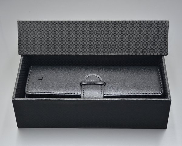New Luxury MB pen case For Top Grade portable Black Leather pencil case As Christmas Birthday Valentine gift with original Box packaging