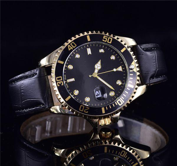 2019 reloj hombre moda uomo orologi in pelle marca orologi da polso designer mens orologi di lusso completo automatico giorno data lunetta in ceramica orologio GMT